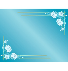 Light blue card with flowers and gradient vector