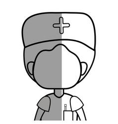 Line specialist doctor with medical uniform vector
