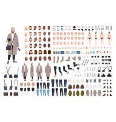 man photographer diy kit or animation set bundle vector image