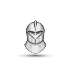medieval knight helmet realistic front view vector image