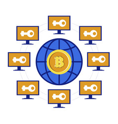 mining pool bitcoin or cryptocurrency online vector image