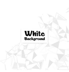 modern polygonal white color background ima vector image