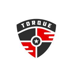modern shield logo design vector image