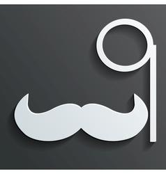 Monocle mustache vector
