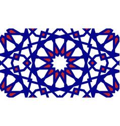 Moroccan arabic grid seamless pattern vector