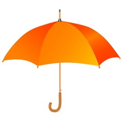 orange umbrella icon vector image