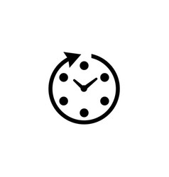 passage of time flat icon vector image
