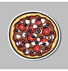 PizzaSticker7 vector