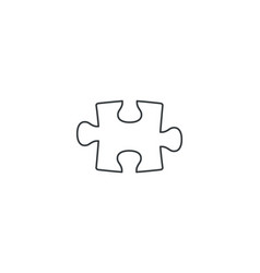 Puzzle line icon sign isolated on white vector