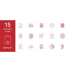 report icons vector image