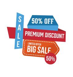 sale discount logo vector image