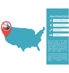 san francisco map infographic vector image