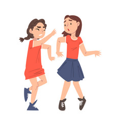 scared sad girls getting bullied mockery and vector image