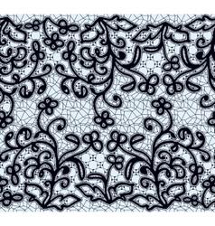 Seamless dark lace pattern vector