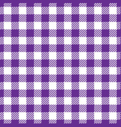 Seamless violet white traditional gingham pattern vector