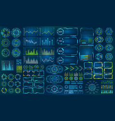 set element for futuristic design interactive vector image