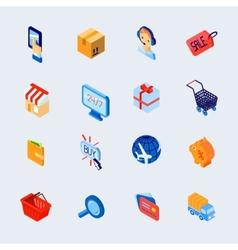 Shopping e-commerce icons set isometric vector
