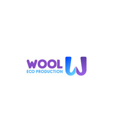 sign for wool production vector image
