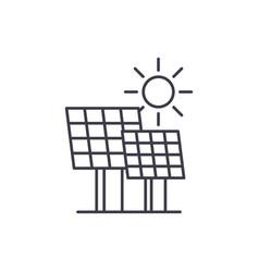solar power line icon concept solar power vector image