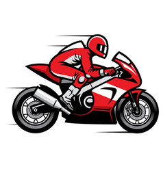 Sport motorbike racer riding fast vector