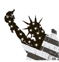 statue of liberty symbol of new york city and the vector image