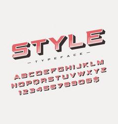 Style trendy retro display font design vector