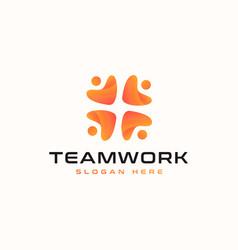 teamwork abstract logo template vector image