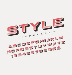 The style trendy retro display font design vector