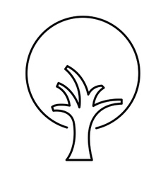 tree drawing isolated icon design vector image