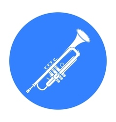 Trumpet icon in black style isolated on white vector