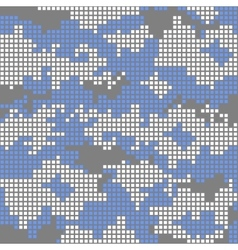 Urban camo pattern - blue pixels vector