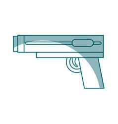 Video game gun icon vector