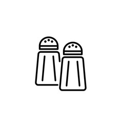 web line icon salt and pepper black on white vector image