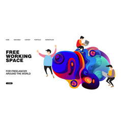Working space and design for website presentation vector