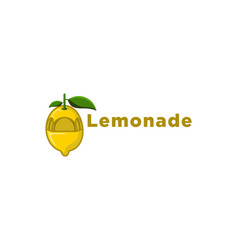 yellow lemonade juice logo designs inspiration vector image