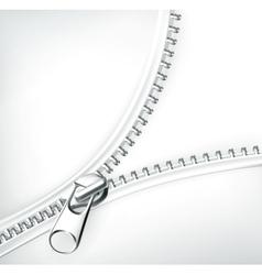 Zipper white vector