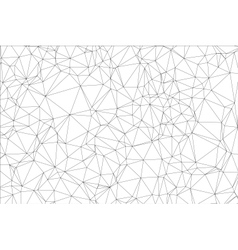 Background black and white polygon vector image vector image