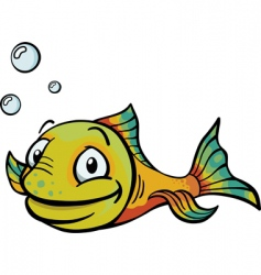 cartoony fish vector image vector image