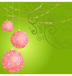 fantasy christmas ball background vector image vector image