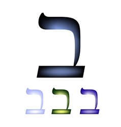 Hebrew font The Hebrew language Letter vet vector image vector image