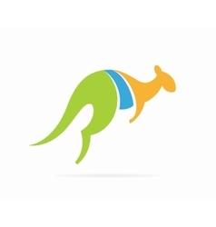 kangaroo logo design template vector image