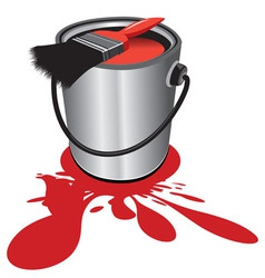 red paint vector image vector image