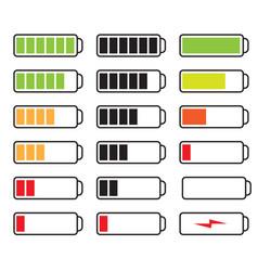 set of batteries vector image