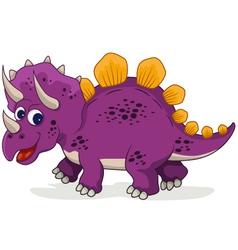 funny dinosaur cartoon vector image vector image