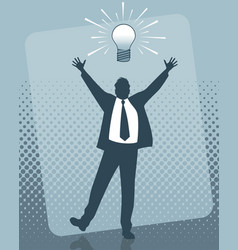 idea of the businessman vector image