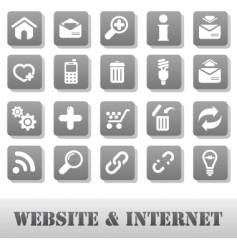 internet and website vector image vector image