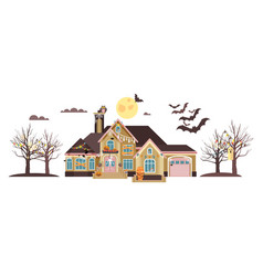isolated cartoon house vector image