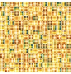 Seamless abstract background of gold mosaic vector image