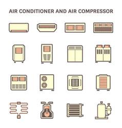 air conditioner icon vector image