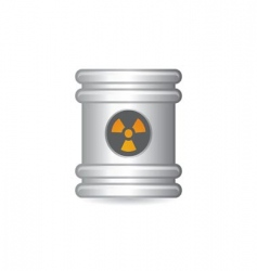 steel barrel vector image vector image